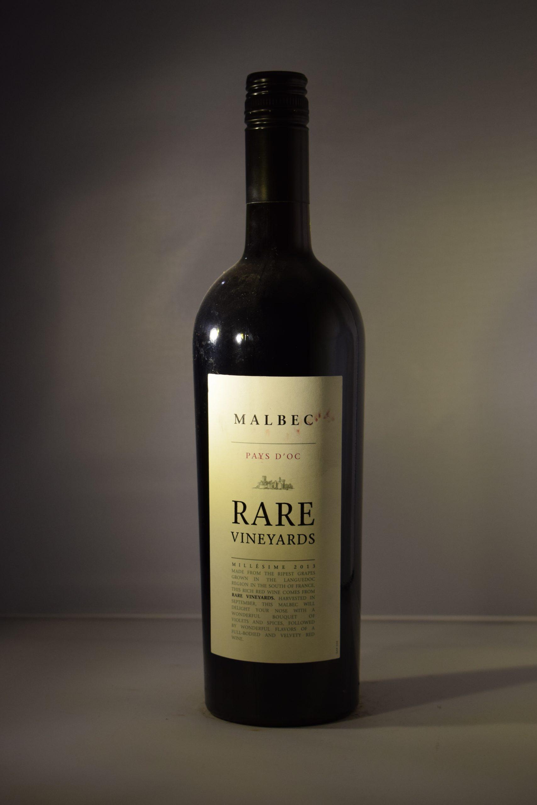 Rare Vineyards Pays D'oc Malbec 2013