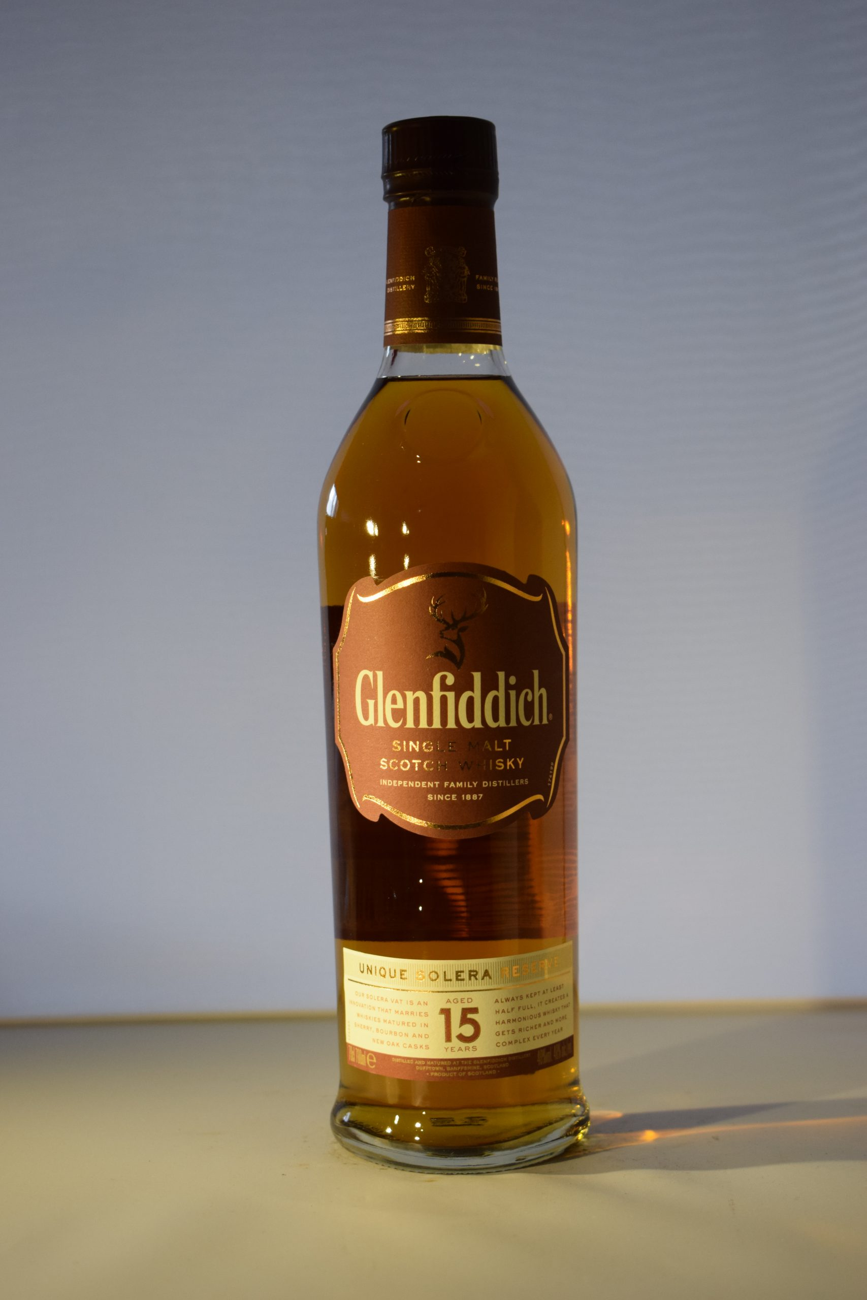 Glenfiddich Solera Reserve 15 Year Old Single Malt Scotch Whiskey 70CL