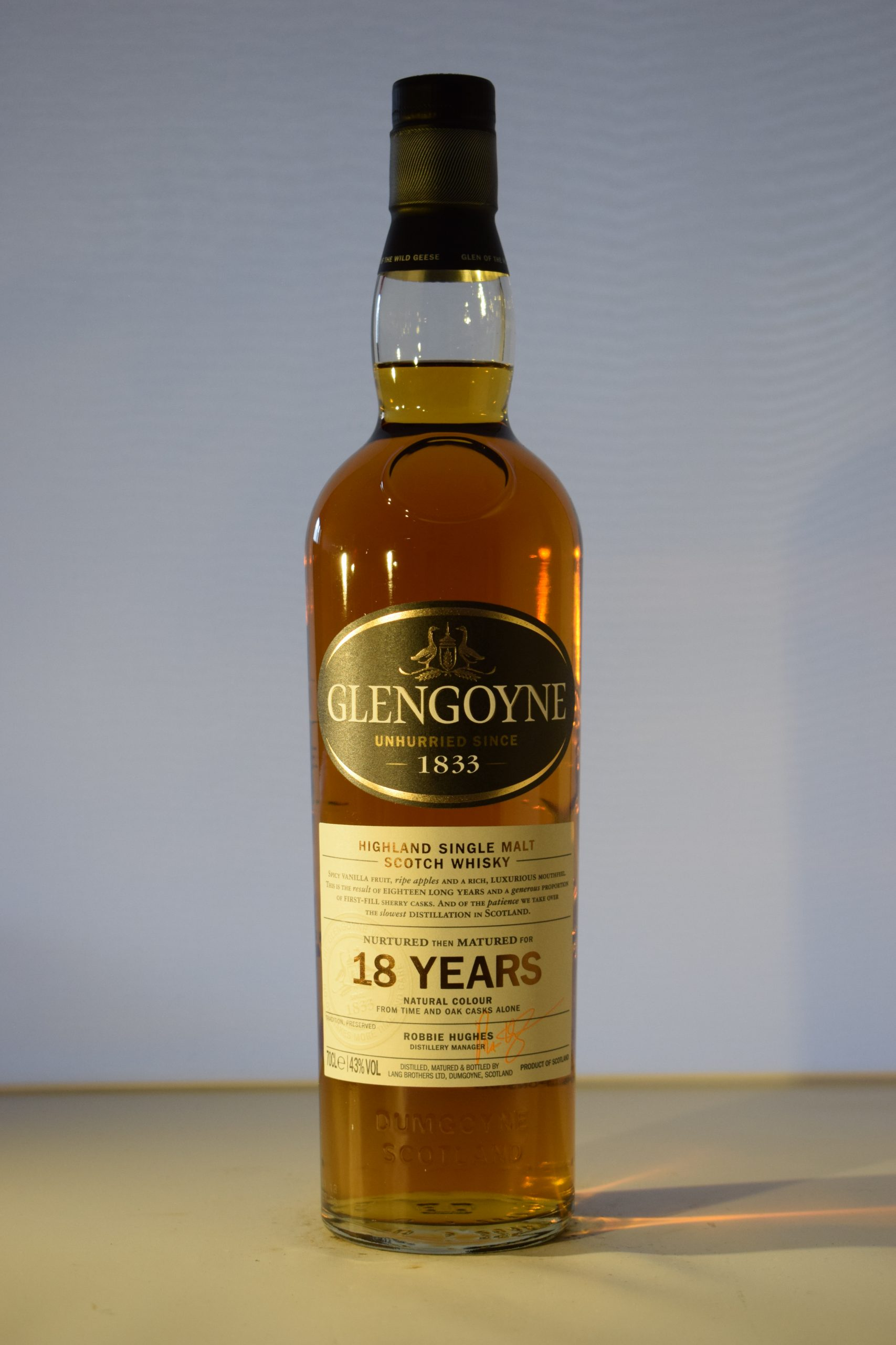 Glengoyne 18year Old Highland Single Malt Scotch Whiskey  70CL